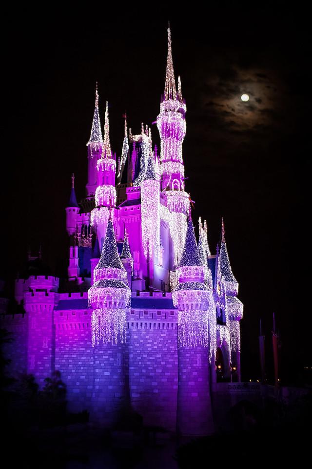 Moon Over Cinderella Castle
