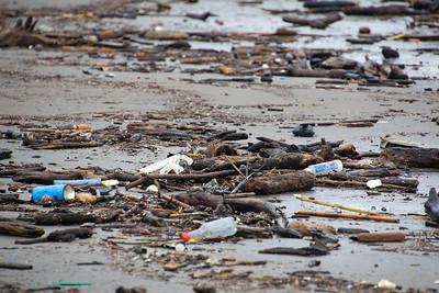 Plastic Trash on a beach