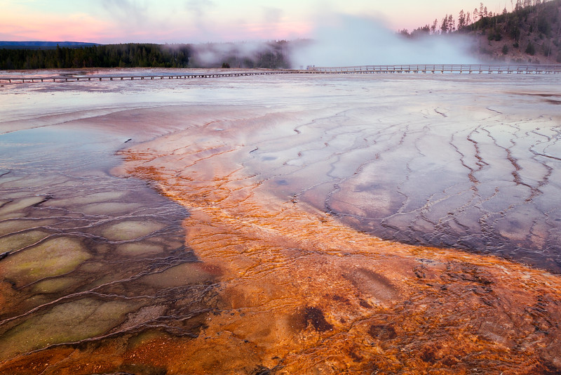 Grand Prismatic Spring Sunset