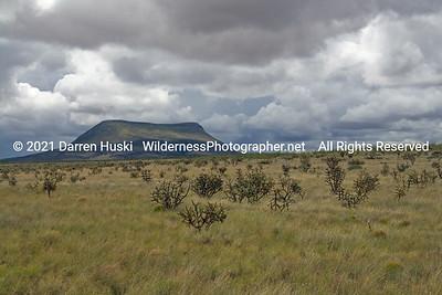 Alamo Mountain across the open range of New Mexico.