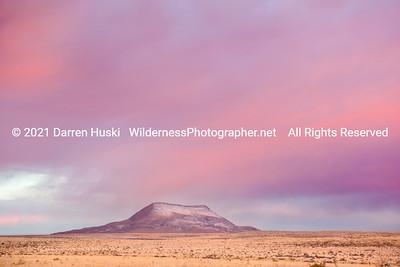 Winter twilight on Alamo Mountain on the Otero Mesa