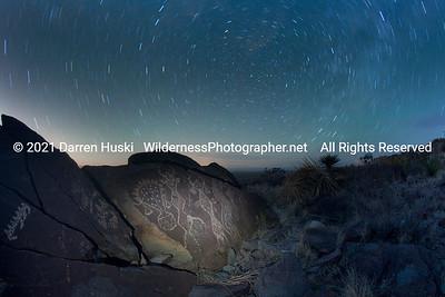 Wind gods by Night on the Otero Mesa.