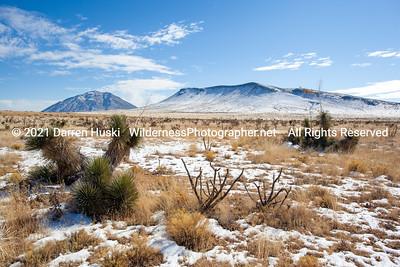 Winter scene on the Lost Mesa