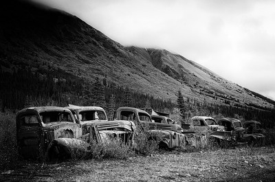 Abandoned WWII US Army service vehicle. North CANOL Road. Yukon