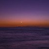 Moonset with earthshine from Pacific Coast Highway