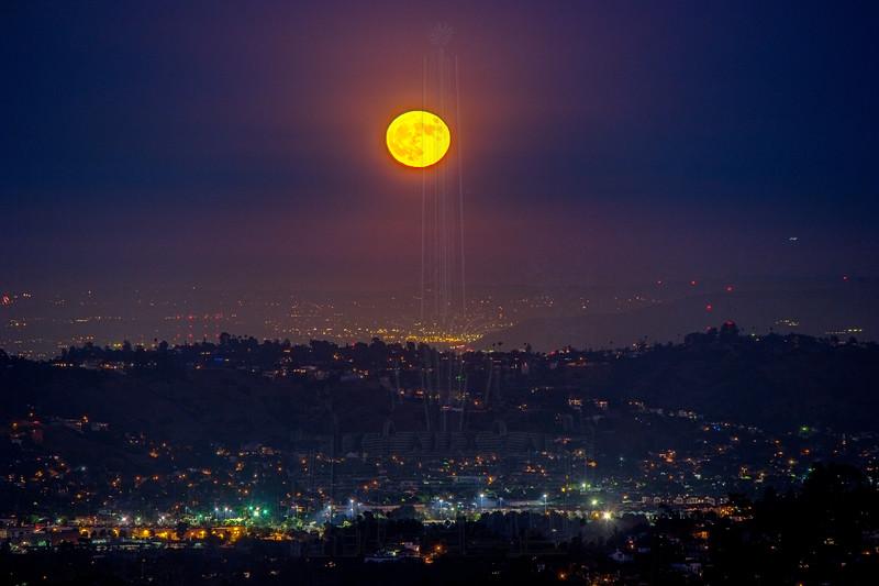 Full Moon over eastern Los Angeles.