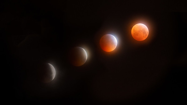 Super Wolf Blood Moon, Lunar eclipse, Scotland