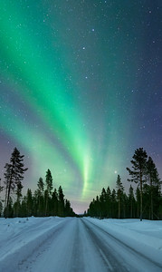 Road to the Aurora Borealis, arctic Sweden