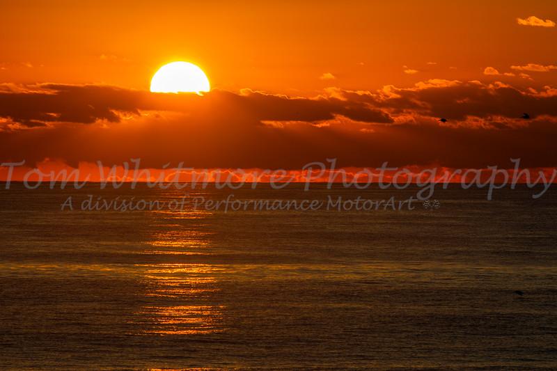 Sunset over Pamlico Sound