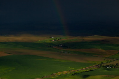 Dark skys an Rainbow, Steptoe Butte, The Palouse