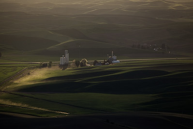 Dusty Road and Grain Mills, Steptoe Butte