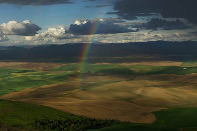 Clouds and Rainbow in the Palouse