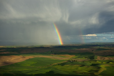 Clearing Showers and Rainbow, Steptoe Butte