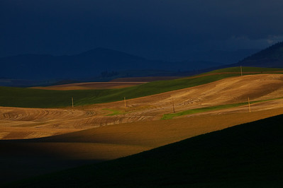 Clearing Storm in fading light. Steptoe Butte