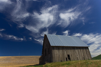 Old Barn and Cirrus Clouds, The Palouse