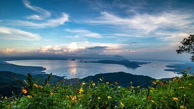 Lake Taal and the Volcano Island within.
