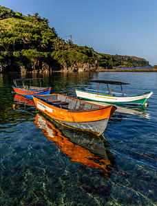 A Small Fishing Fleet at rest. Batanes Island.
