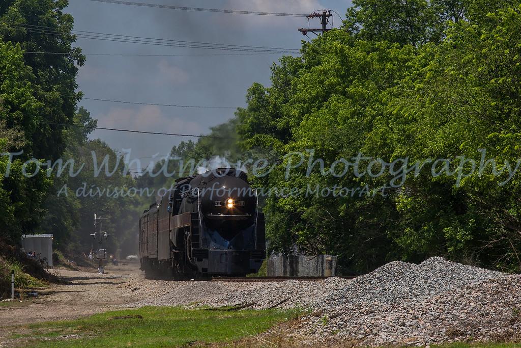 N&W 611 entering Petersburg, VA.