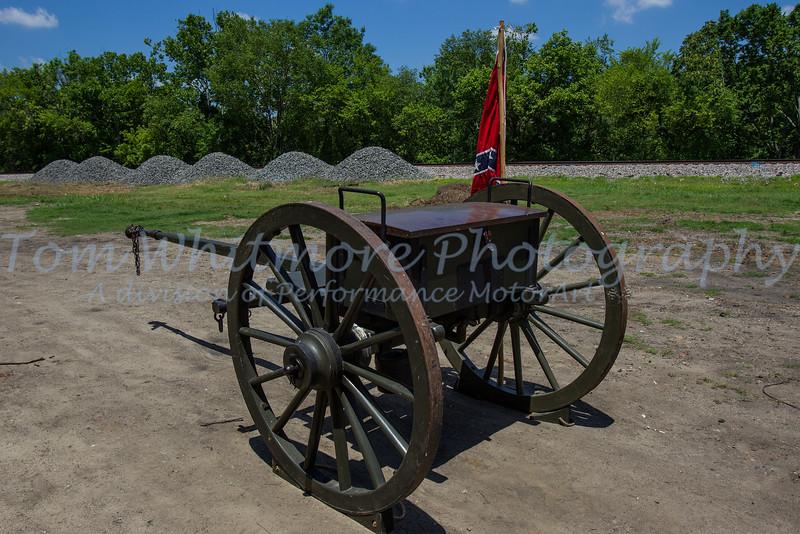 Civil war artillery wagon on display in Petersburg, VA.