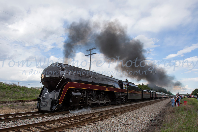 N&W 611 excursion Lynchburg to Petersburg on May 17, 2017 N&W 611 Lynchburg to Petersburg May 17, 2017