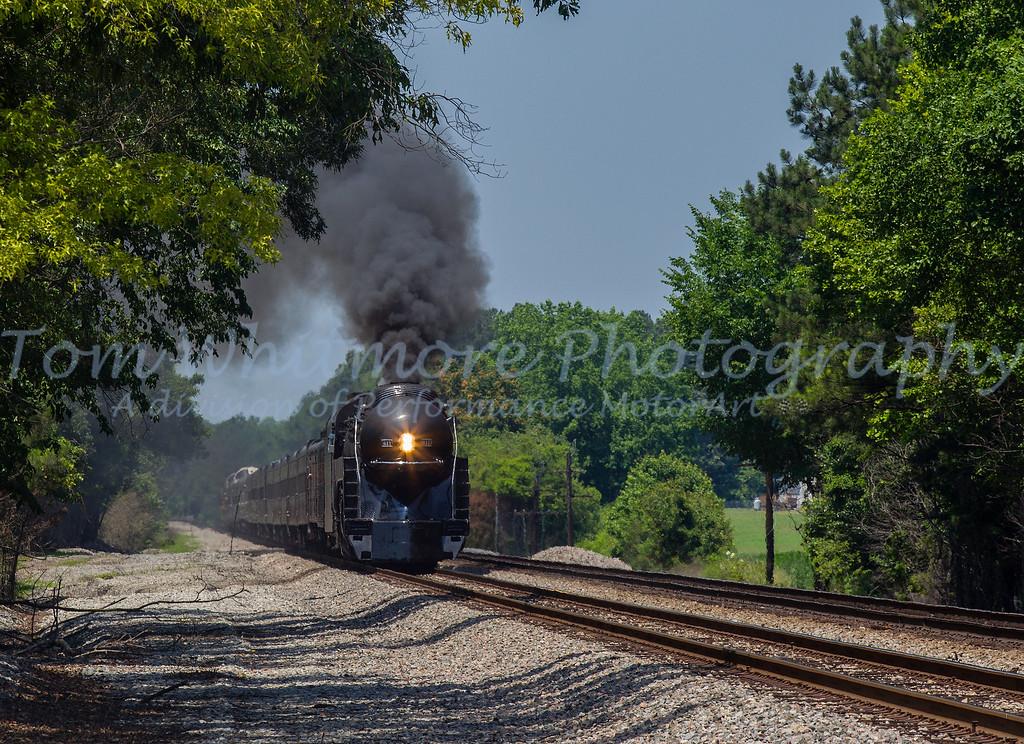 The N&W 611 under full steam.