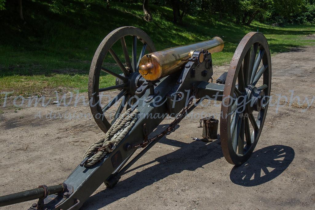 Civil war cannon on display in Petersburg, VA.