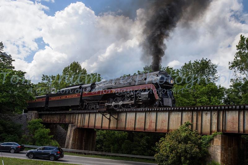 N&W 611 excursion Lynchburg to Petersburg on May 17, 2017 N&W 611 Lynchburg to Petersburg May 17, 2017