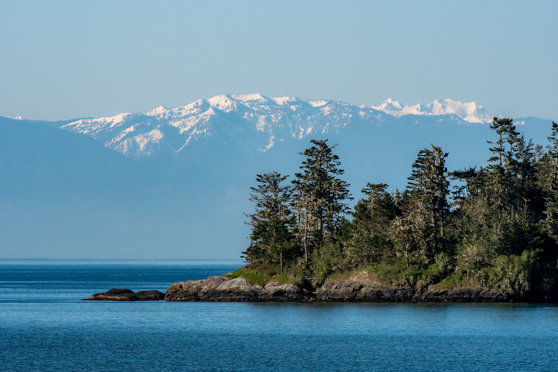 False Bay Marine Preserve and the Olympic Mountains