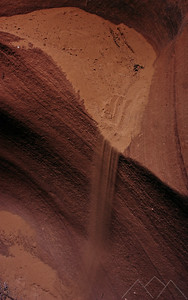 Falling Sand in Labyrinth Canyon, Lake Powell