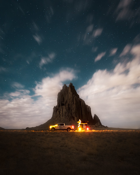 Night at Ship Rock