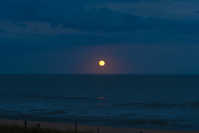 Moonrise over the Ocean - Beach Haven, New Jersey