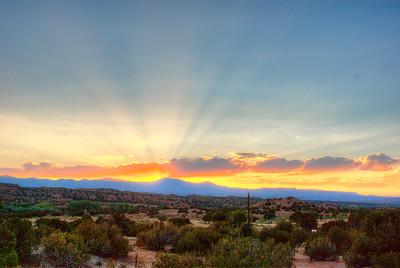 Sunset in Sante Fe