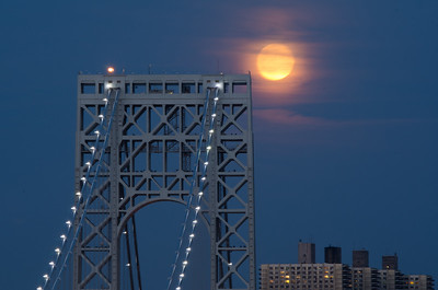 Full Moon over George Washington Bridge