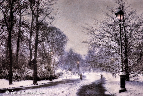 Parc Monceau, First Snow, 1982