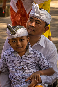 Balinese man and his son.