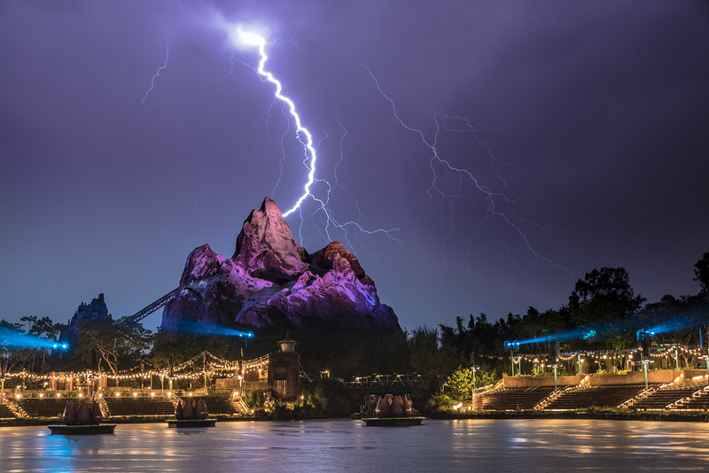 Lightning storm over Animal Kingdom.