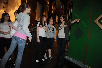 """tech rehearsal for BG High School's """"Wizard of Oz."""" For use in photo book project"""