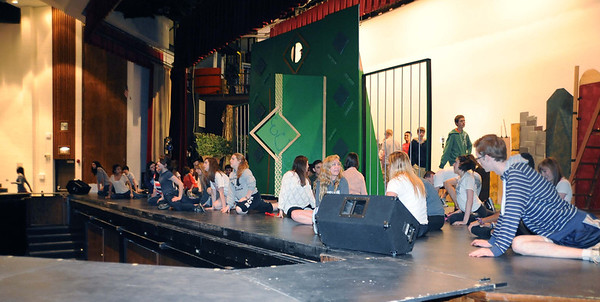 "tech rehearsal for BG High School's ""Wizard of Oz."" For use in photo book project"