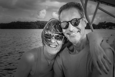 avec mon amie Petra en Guadeloupe