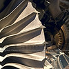 A jet engine cutaway at the Museum of Flight in Seattle.