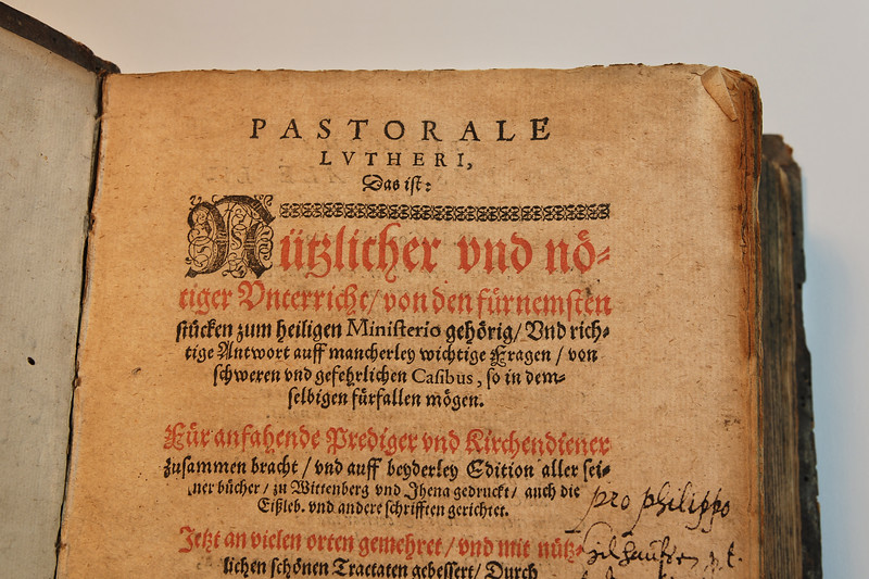 Pastorale Lutheri: Opening Page 2
