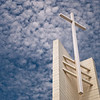 Church Cross and Clouds
