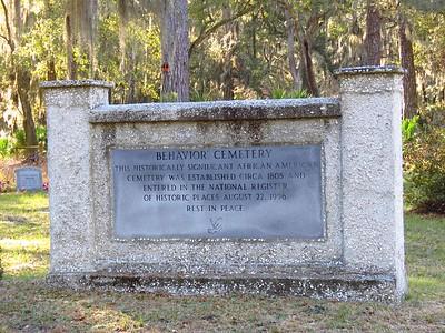 Behavior Cemetery, Sapelo Island, GA (1)