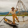 Leg Rower Fisherman - Inle Lake, Myanmar