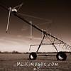 A Farmers spray irrigation system in Smyma Delaware