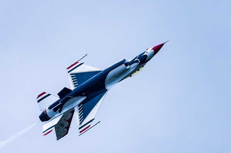Upside Down USAF Thunderbird #6 ~ Air Show ~ Willow Run Airport, Michigan