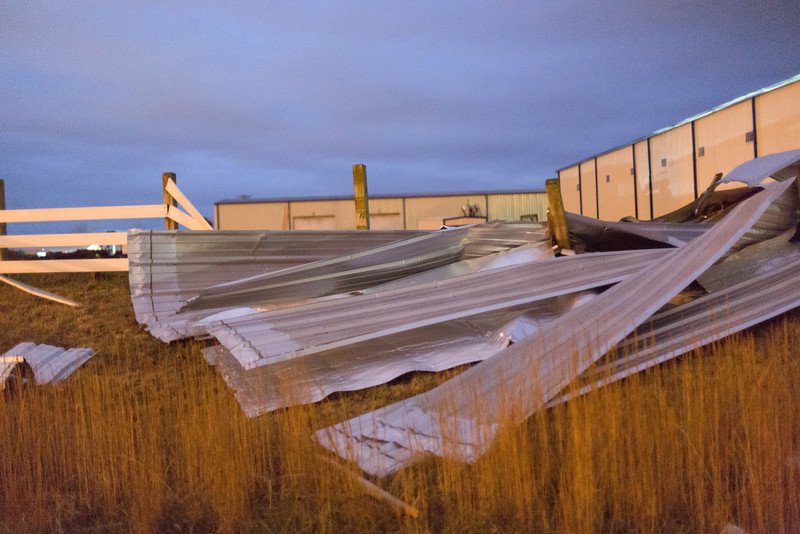 Large, industrial sheets of metal.