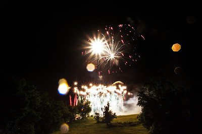 This firework was so bright it was like a manmade sun. So many sunflares in one shot!