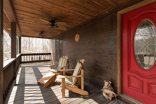The large porch was warm and inviting.