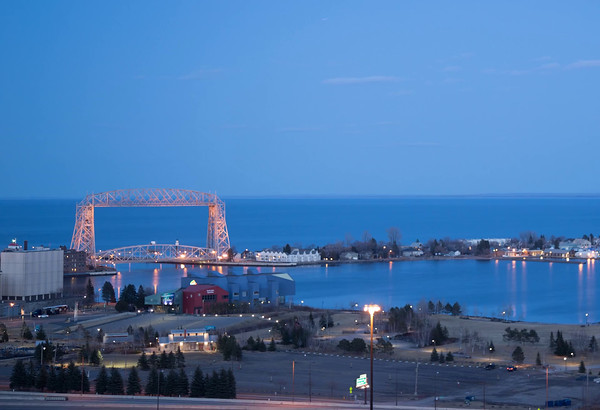 Easter Moon over Duluth